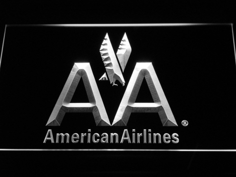 Image of American Airlines LED Neon Sign - White - SafeSpecial