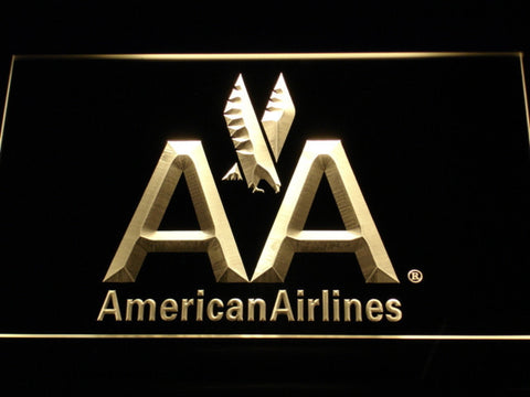 American Airlines LED Neon Sign - Yellow - SafeSpecial