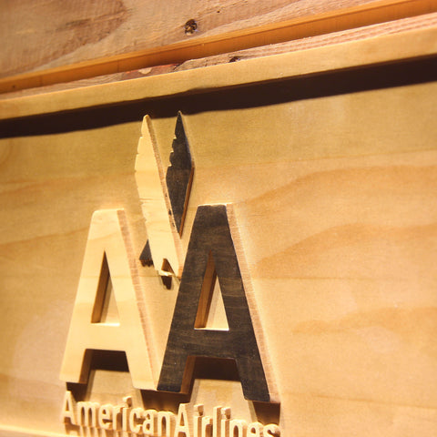 American Airlines Wooden Sign - - SafeSpecial
