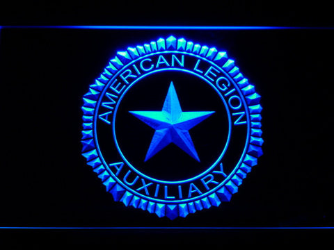 Image of American Legion Auxiliary LED Neon Sign - Blue - SafeSpecial
