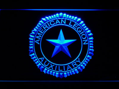 American Legion Auxiliary LED Neon Sign - Blue - SafeSpecial