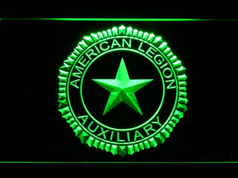 Image of American Legion Auxiliary LED Neon Sign - Green - SafeSpecial