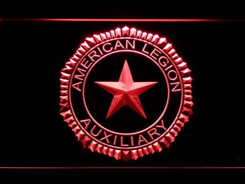 American Legion Auxiliary LED Neon Sign - Red - SafeSpecial