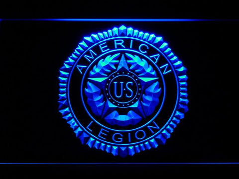 Image of American Legion LED Neon Sign - Blue - SafeSpecial