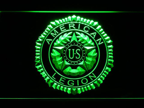 Image of American Legion LED Neon Sign - Green - SafeSpecial