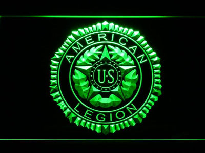 American Legion LED Neon Sign - Green - SafeSpecial