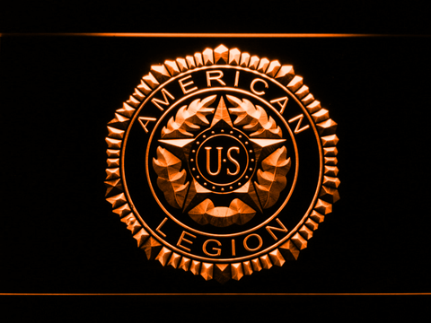 Image of American Legion LED Neon Sign - Orange - SafeSpecial
