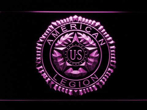 Image of American Legion LED Neon Sign - Purple - SafeSpecial
