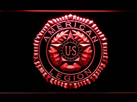 Image of American Legion LED Neon Sign - Red - SafeSpecial