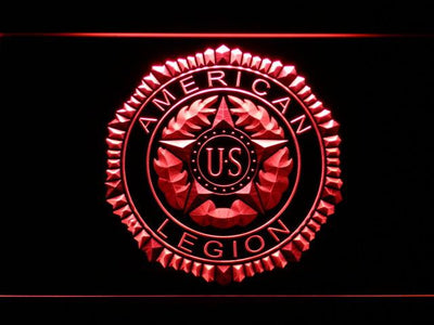American Legion LED Neon Sign - Red - SafeSpecial