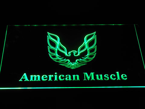 American Muscle Eagle Logo LED Neon Sign - Green - SafeSpecial
