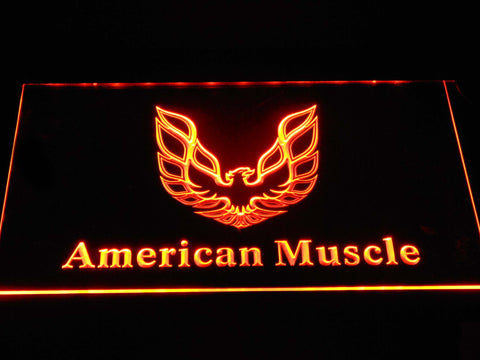 American Muscle Eagle Logo LED Neon Sign - Orange - SafeSpecial