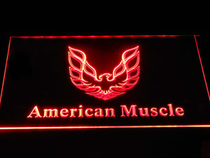 American Muscle Eagle Logo LED Neon Sign - Red - SafeSpecial