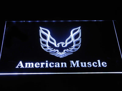 American Muscle Eagle Logo LED Neon Sign - White - SafeSpecial