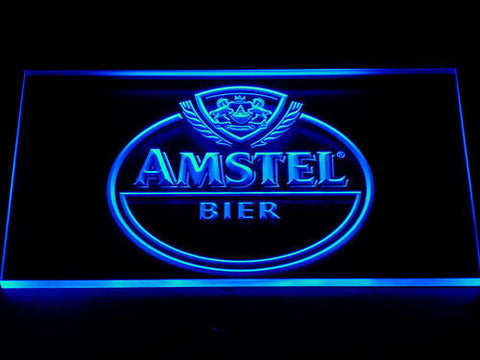 Image of Amstel Bier LED Neon Sign - Blue - SafeSpecial