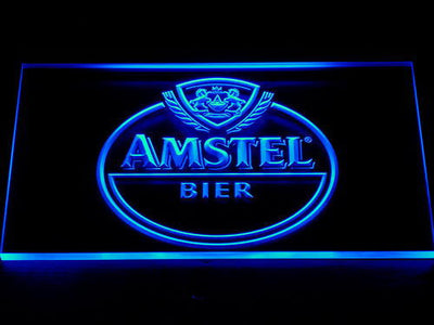 Amstel Bier LED Neon Sign - Blue - SafeSpecial