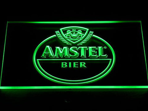 Amstel Bier LED Neon Sign - Green - SafeSpecial