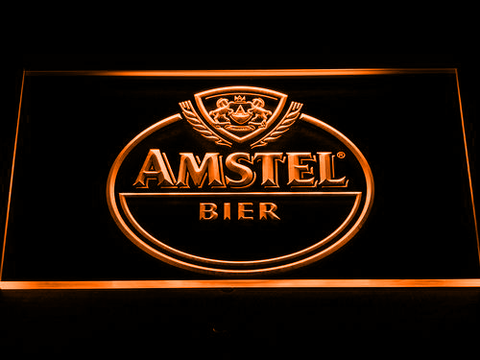 Image of Amstel Bier LED Neon Sign - Orange - SafeSpecial