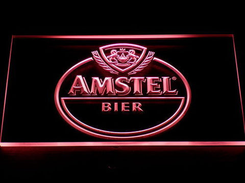 Image of Amstel Bier LED Neon Sign - Red - SafeSpecial