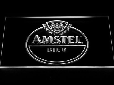 Amstel Bier LED Neon Sign - White - SafeSpecial