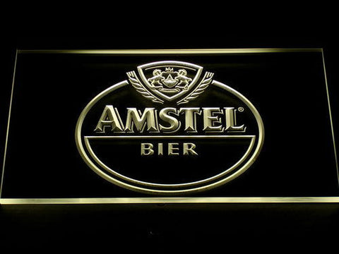 Image of Amstel Bier LED Neon Sign - Yellow - SafeSpecial