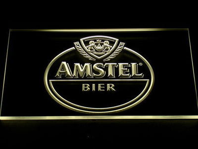 Amstel Bier LED Neon Sign - Yellow - SafeSpecial