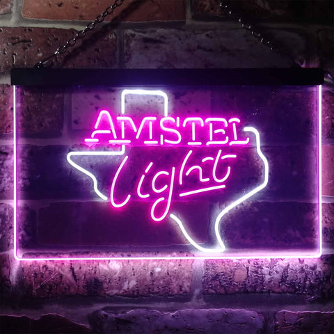 Image of Amstel Light - Texas Neon-Like LED Sign - Dual Color