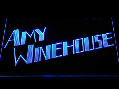 Amy Winehouse LED Neon Sign - Blue - SafeSpecial