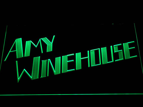 Amy Winehouse LED Neon Sign - Green - SafeSpecial