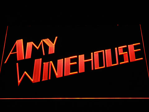 Amy Winehouse LED Neon Sign - Orange - SafeSpecial