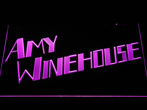 Amy Winehouse LED Neon Sign - Purple - SafeSpecial