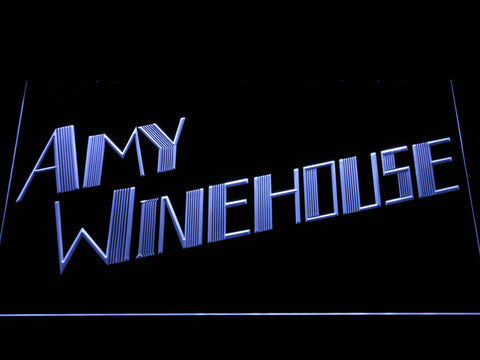 Amy Winehouse LED Neon Sign - White - SafeSpecial