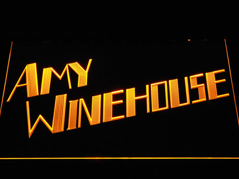Amy Winehouse LED Neon Sign - Yellow - SafeSpecial