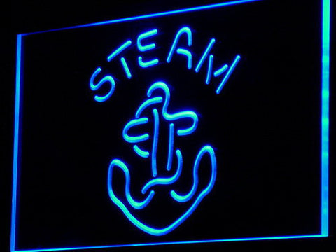 Anchor Steam LED Neon Sign - Blue - SafeSpecial