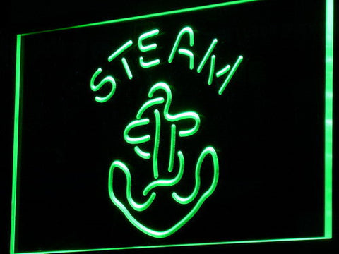 Anchor Steam LED Neon Sign - Green - SafeSpecial
