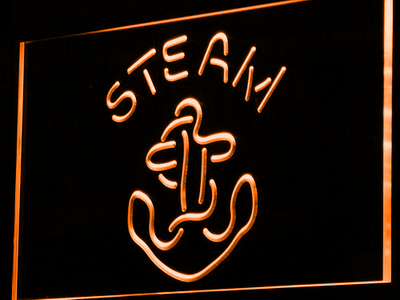 Anchor Steam LED Neon Sign - Orange - SafeSpecial