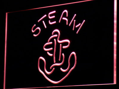 Anchor Steam LED Neon Sign - Red - SafeSpecial