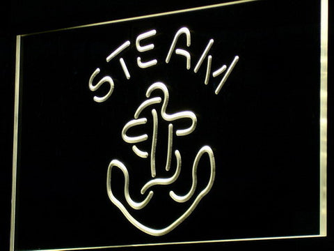 Anchor Steam LED Neon Sign - Yellow - SafeSpecial