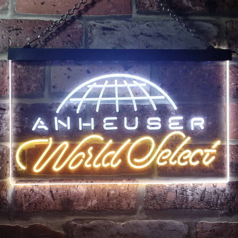 Image of Anheuser World Select Globe Neon-Like LED Sign - Dual Color