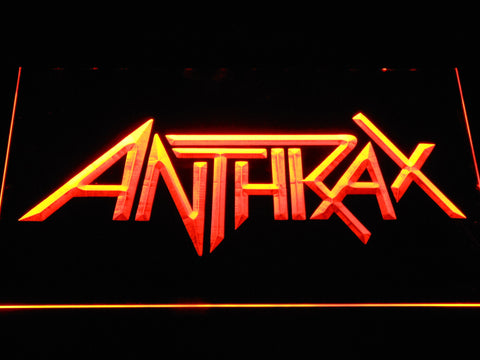 Anthrax LED Neon Sign - Orange - SafeSpecial