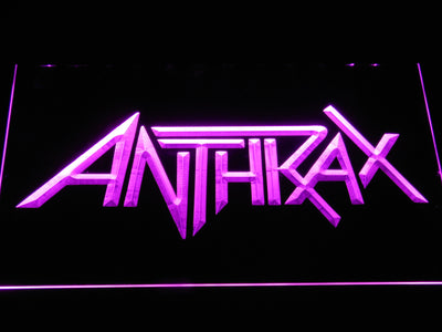 Anthrax LED Neon Sign - Purple - SafeSpecial