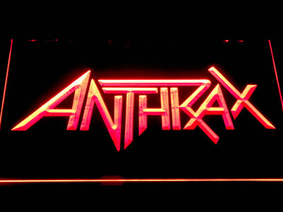 Anthrax LED Neon Sign - Red - SafeSpecial
