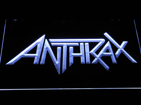 Anthrax LED Neon Sign - White - SafeSpecial