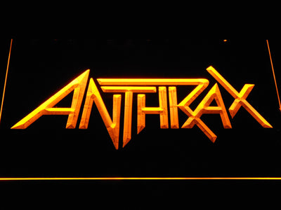 Anthrax LED Neon Sign - Yellow - SafeSpecial