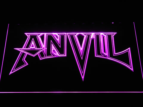 Anvil LED Neon Sign - Purple - SafeSpecial