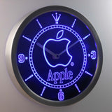 Apple LED Neon Wall Clock - Blue - SafeSpecial