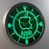 Apple LED Neon Wall Clock - Green - SafeSpecial