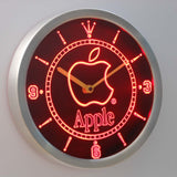 Apple LED Neon Wall Clock - Red - SafeSpecial