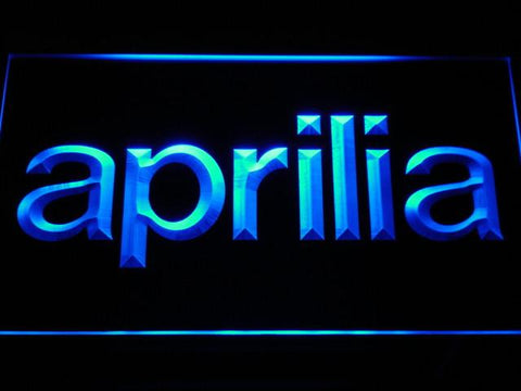 Aprilia LED Neon Sign - Blue - SafeSpecial