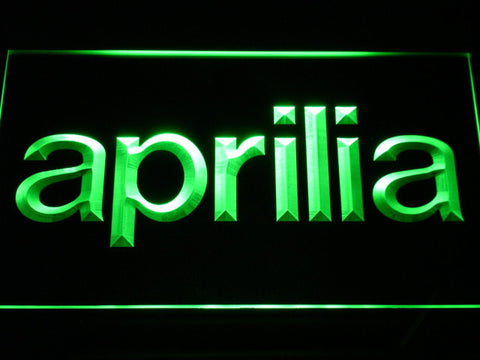 Aprilia LED Neon Sign - Green - SafeSpecial
